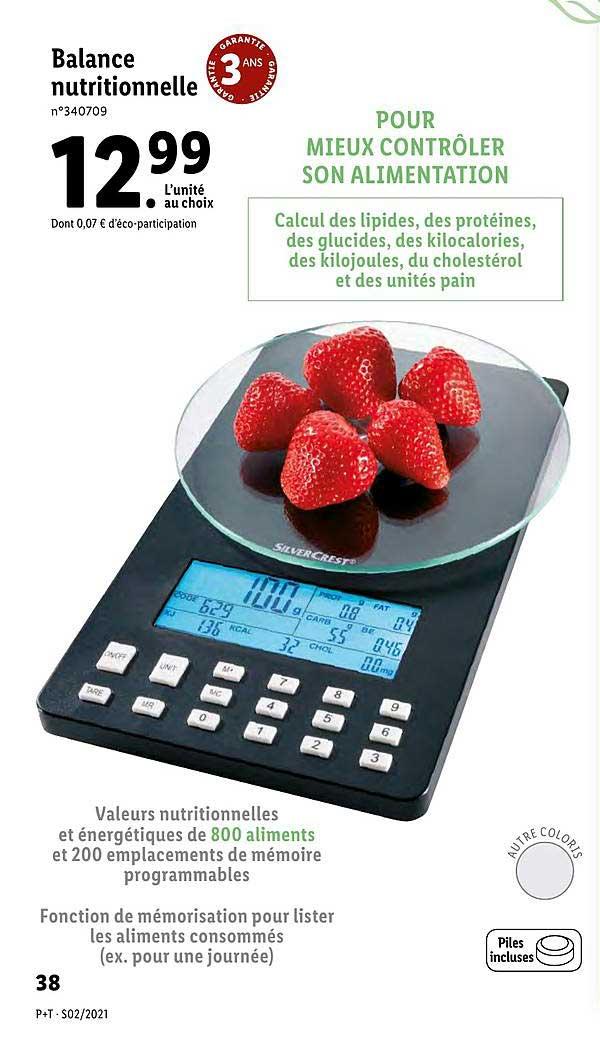 Lidl Balance Nutritionnelle