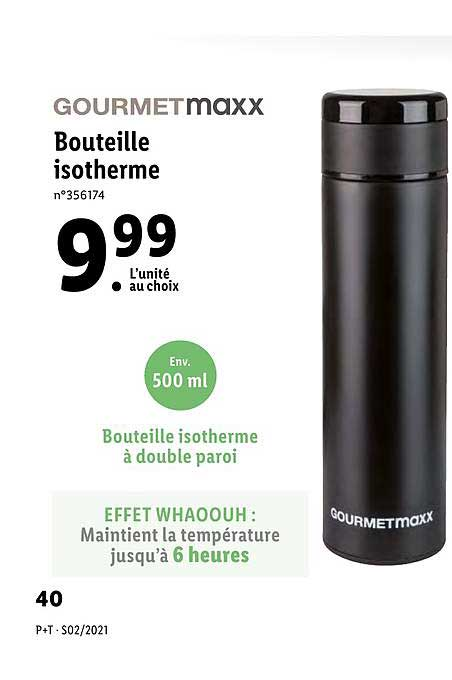 Lidl Bouteille Isotherme Gourmet Maxx