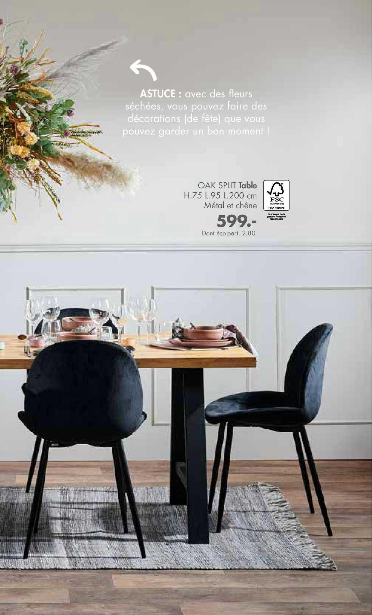 Casa Oak Split Table
