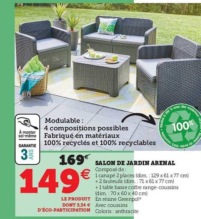 Super U Salon De Jardin Arenal