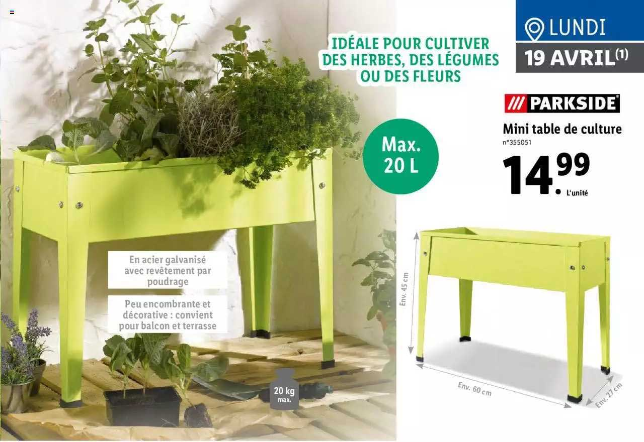 Lidl Mini Table De Culture Parkside