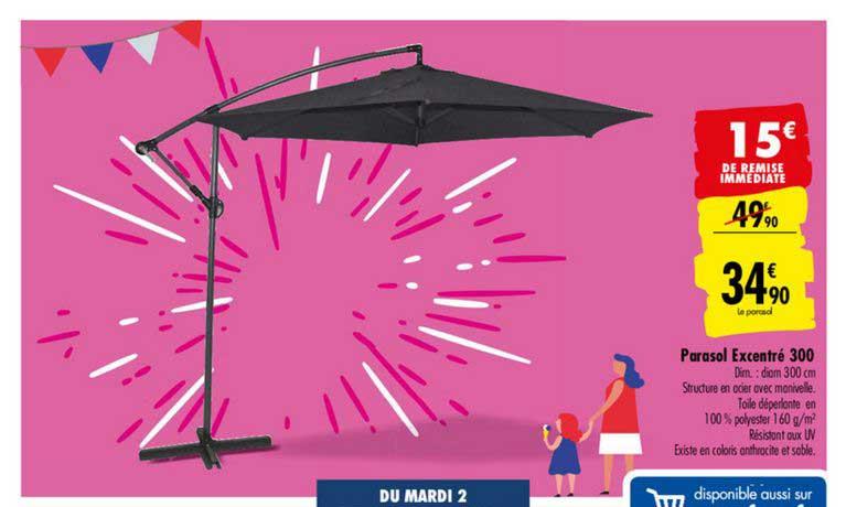 Carrefour Parasol Excentré 300