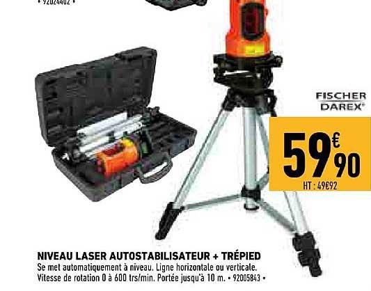 Offre Niveau Laser Autostabilisateur Trepied Chez Brico Cash