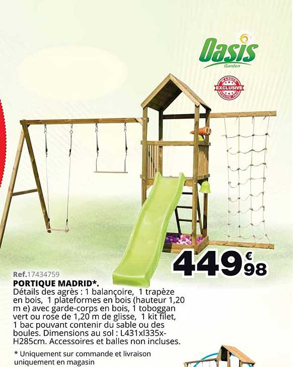 Maxi Toys Portique Madrid Oasis