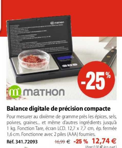 Mathon Balance Digitale De Précision Compacte