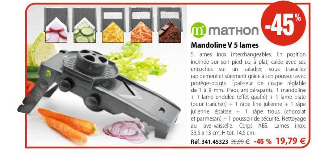Mathon Mandoline V 5 Lames