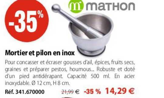 Mathon Mortier Et Pilon En Inox