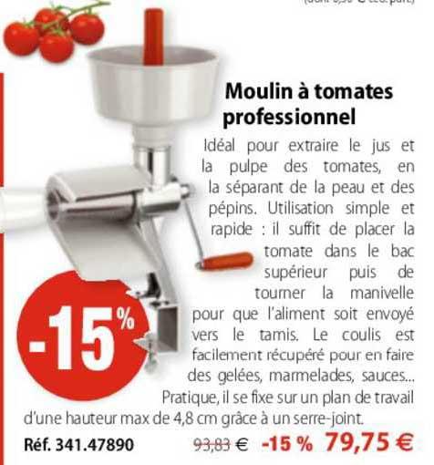 Mathon Moulin à Tomates Professionnel