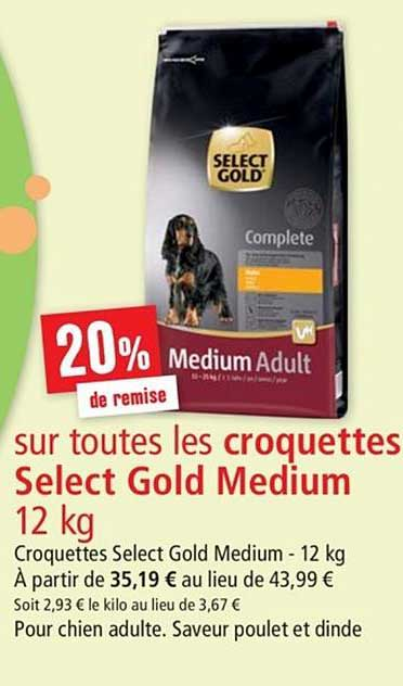 Maxi Zoo Croquettes Select Gold Medium 12 Kg 20% De Remise