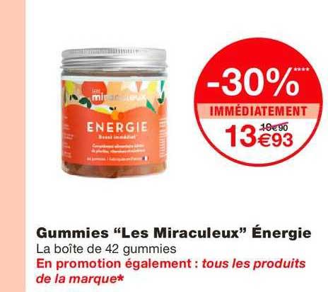Monoprix Gummies Les Miraculeux énérgie -30% Immédiatement