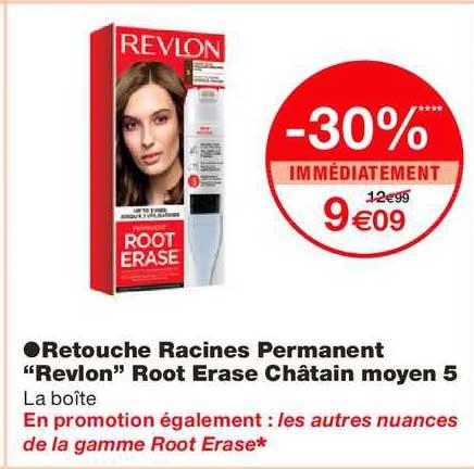 Monoprix Retouche Racines Permanent Revlon Root Erase Châtain Moyen 5 -30% Immédiatement