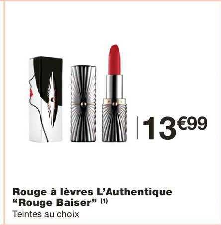 Monoprix Rouge à Lèvres L'authentique Rouge Baiser