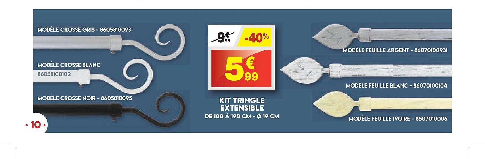 Maxi Bazar Kit De Tringle Extensible