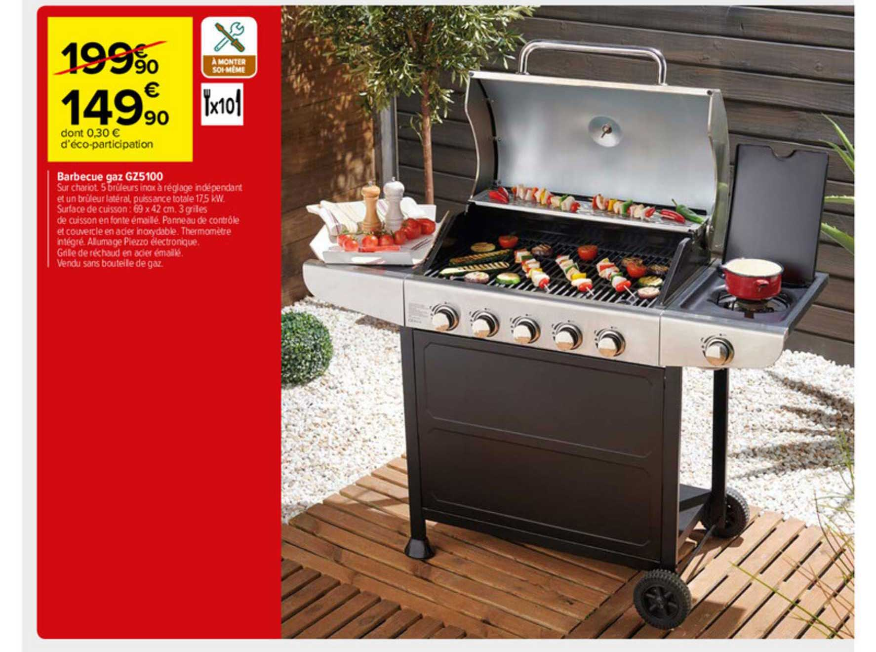 Carrefour Market Barbecue Gaz Gz5100