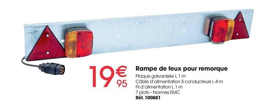 Brico Pro Rampe De Feux Pour Remorque