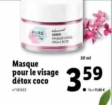Lidl Masque Pour Le Visage Détox Coco