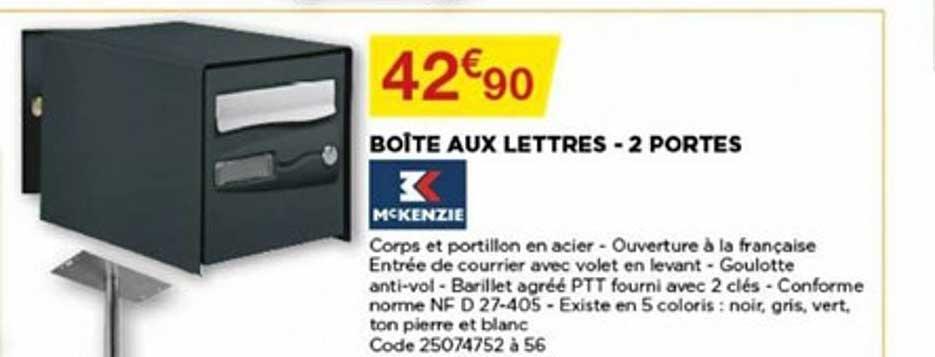 Bricomarché Boîte Aux Lettres 2 Portes Mckenzie