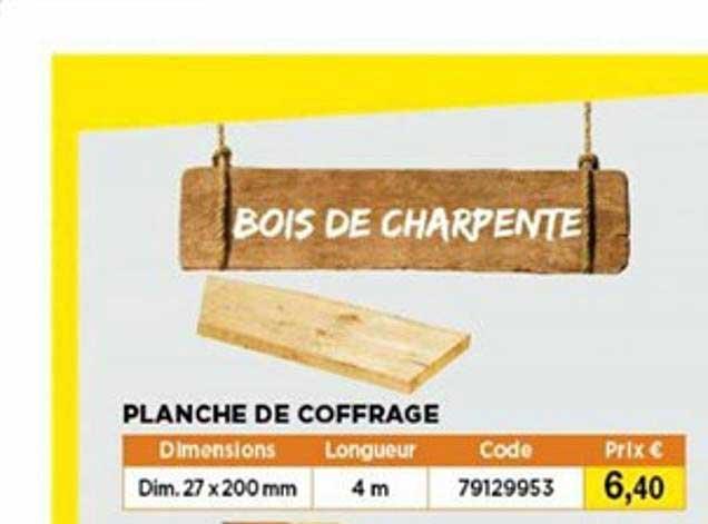 Bricomarché Planche De Coffrage