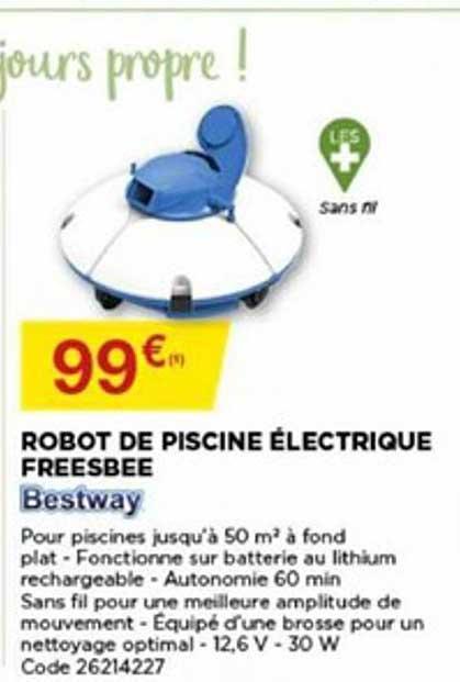 Bricomarché Robot De Piscine électrique Freesbee Bestway