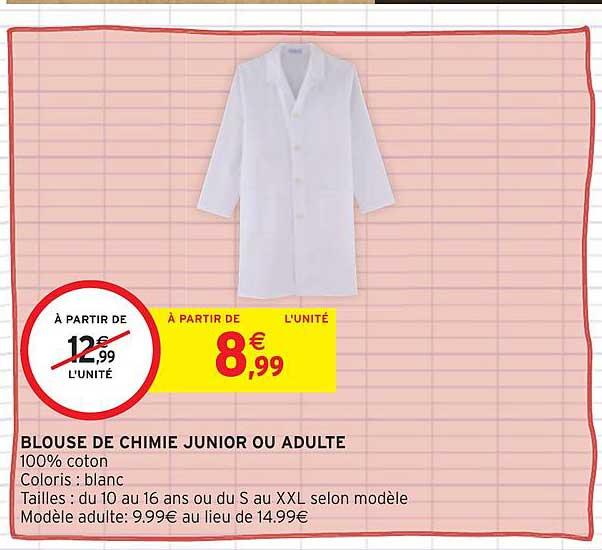 Intermarché Hyper Blouse De Chimie Junior Ou Adulte