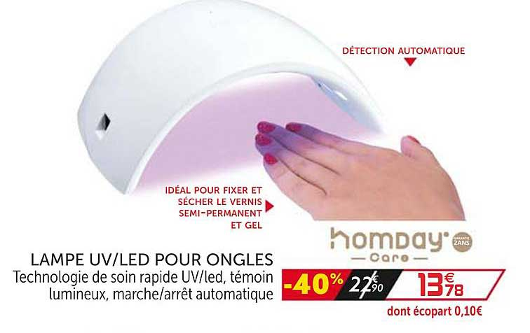 GiFi Lampe Uv Led Pour Ongles Homday Care