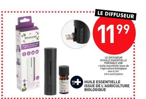 Stokomani Le Diffuseur D'huile Essentielle Portable Usb