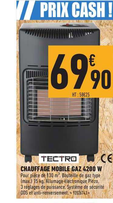 offre chauffage mobile gaz 420 w tectro chez brico cash