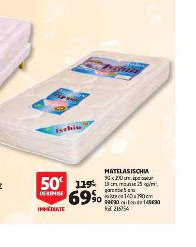 Offre Matelas Ischia Chez Auchan Direct