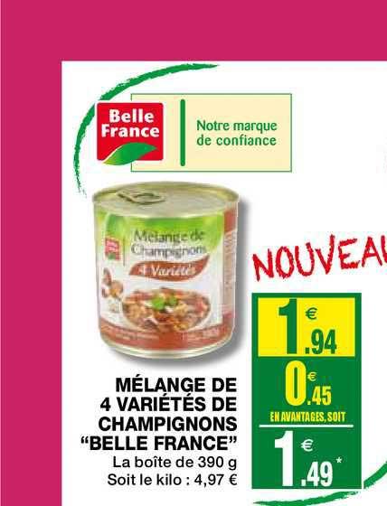 Coccimarket Mélange De 4 Variétés De Champignons Belle France