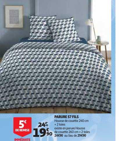 Offre Parure 57 Fils Chez Auchan Direct