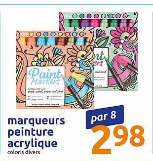Action Marqueurs Peinture Acrylique