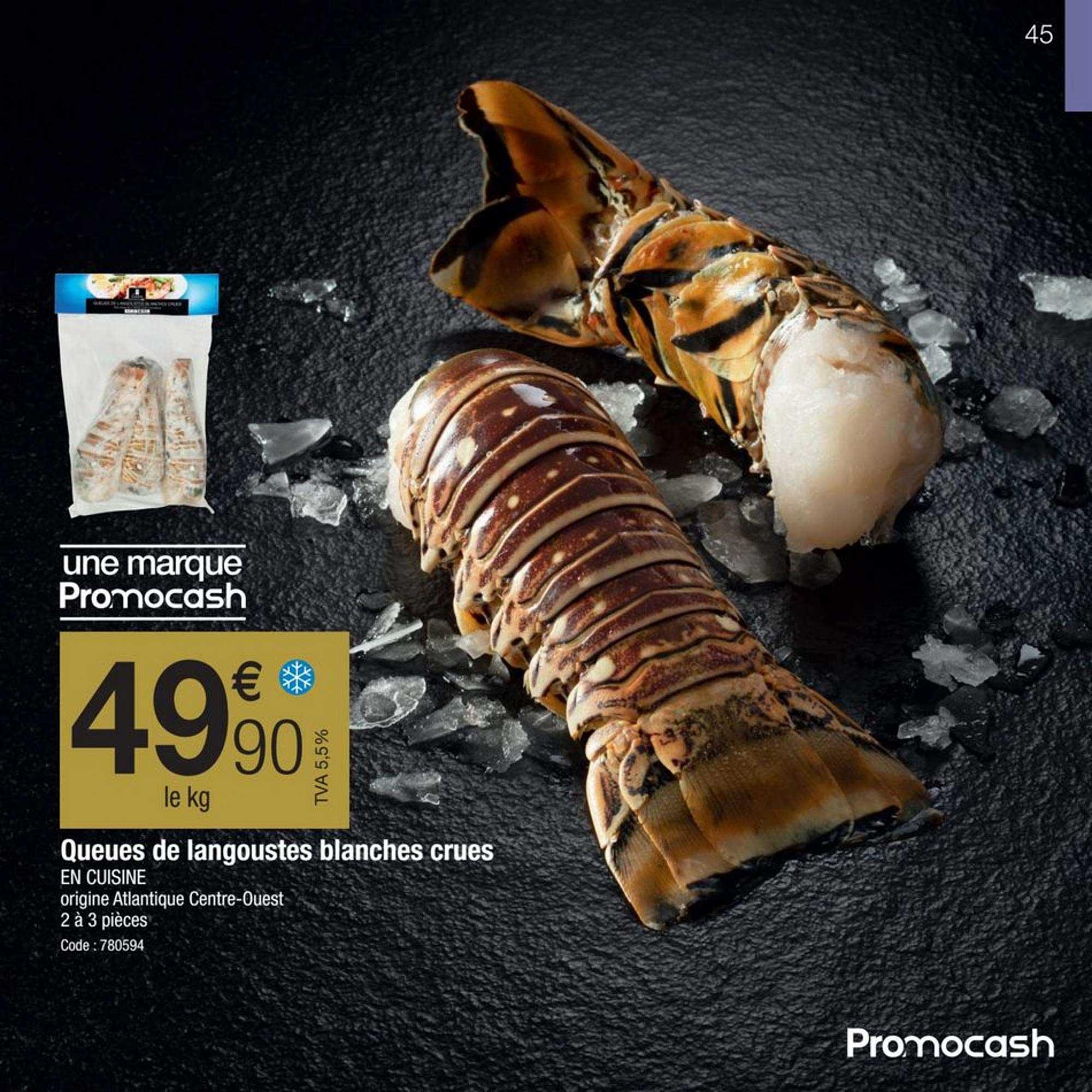 Promocash Queues De Langoustes Blanches Crues En Cuisine