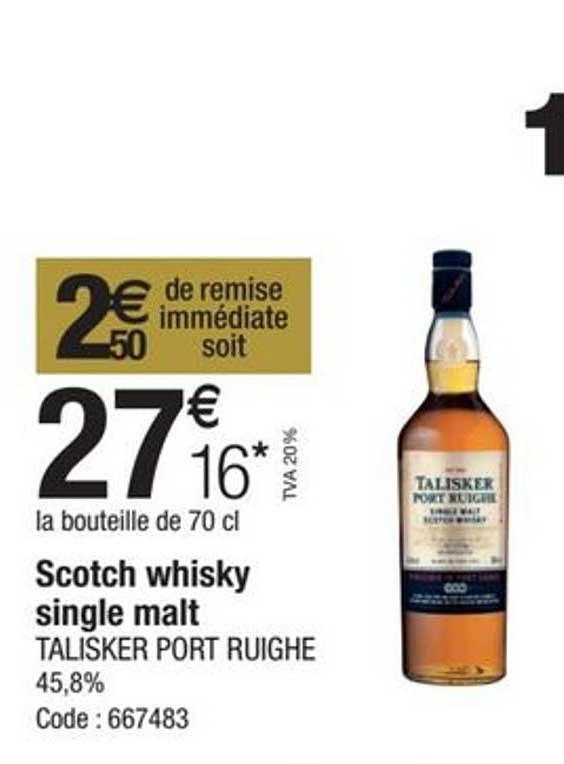 Promocash Scotch Whisky Single Malt Talisker Port Ruighe 45,8%