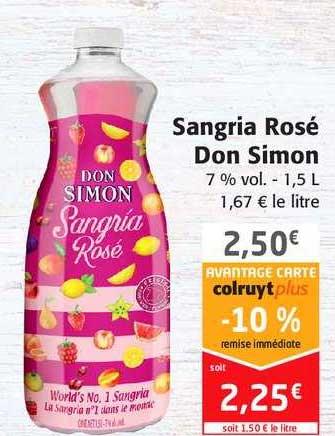 Colruyt Sangria Rosé Don Simon