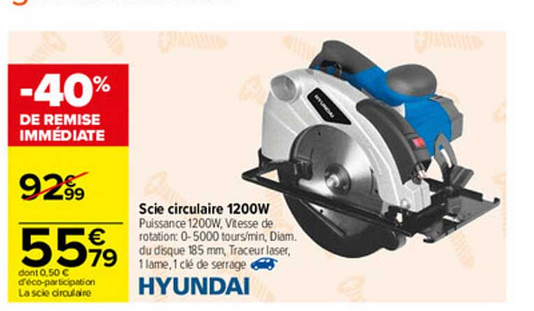 Carrefour Scie Circulaire 1200w Hyundai