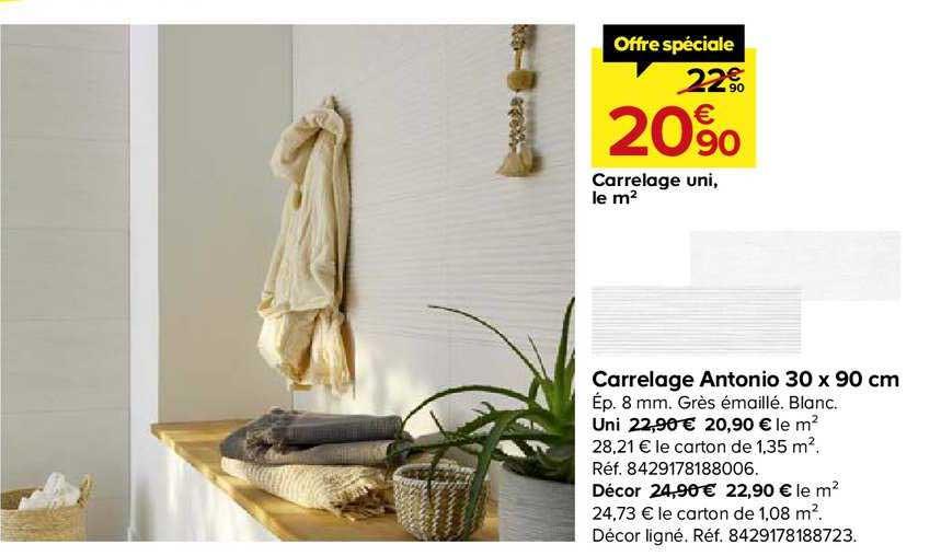 Offre Carrelage Antonio 30x90 Cm Chez Castorama