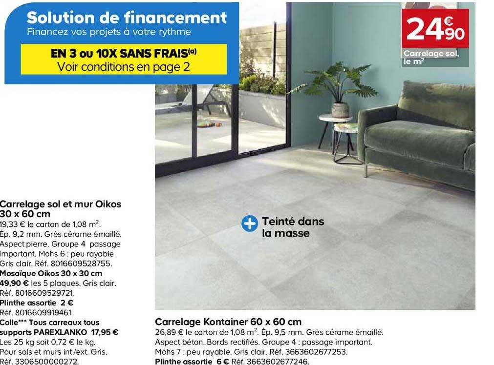 Offre Carrelage Sol Et Mur Oikos 30x60 Cm Chez Castorama