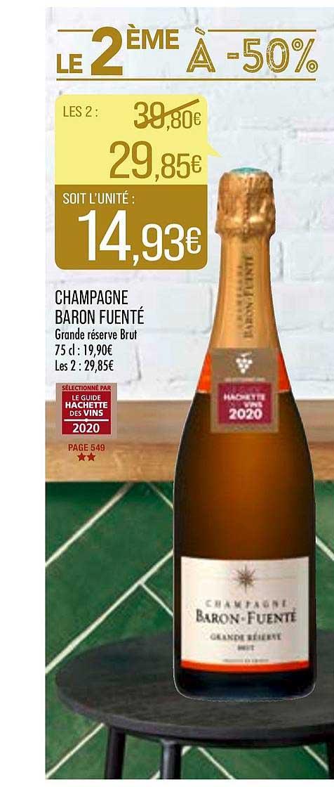 Match Champagne Baron Fuenté Le 2ème à -50%