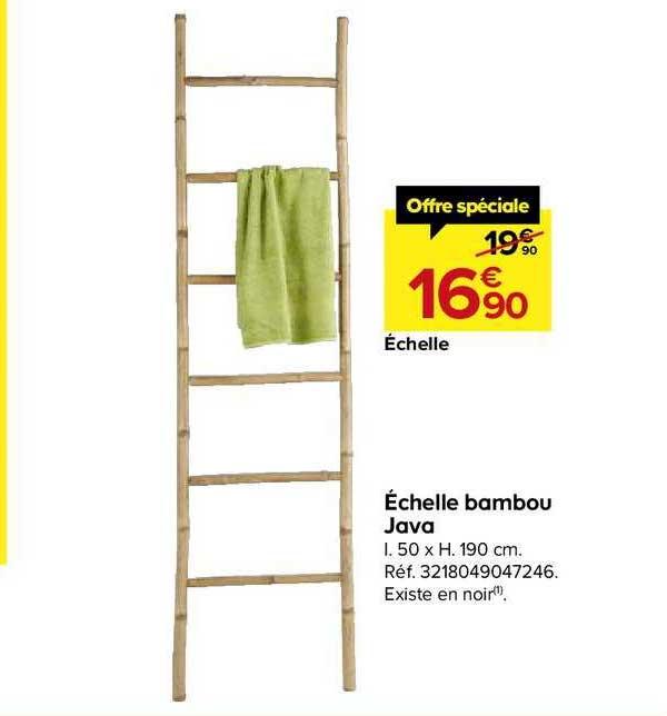 Castorama échelle Bambou Java