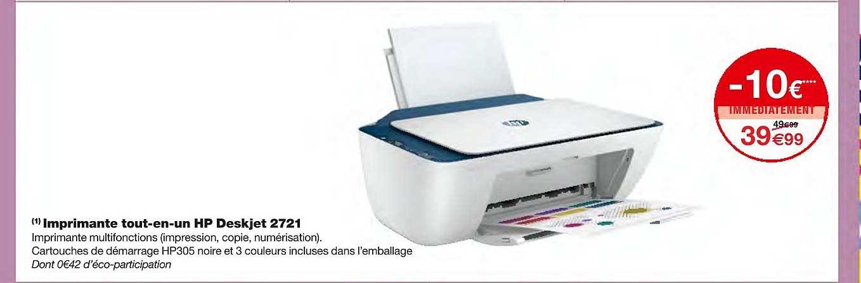 Monoprix Imprimante Tout En Un Hp Deskjet 2721