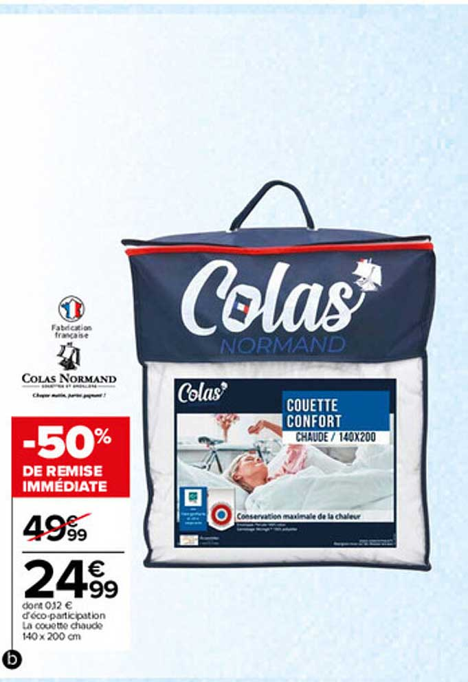 Carrefour La Couette Chaude 140 X 200 Cm Colas Normand