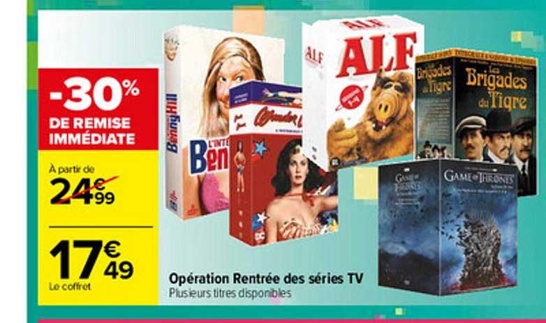 Carrefour Opération Rentrée Des Séries Tv