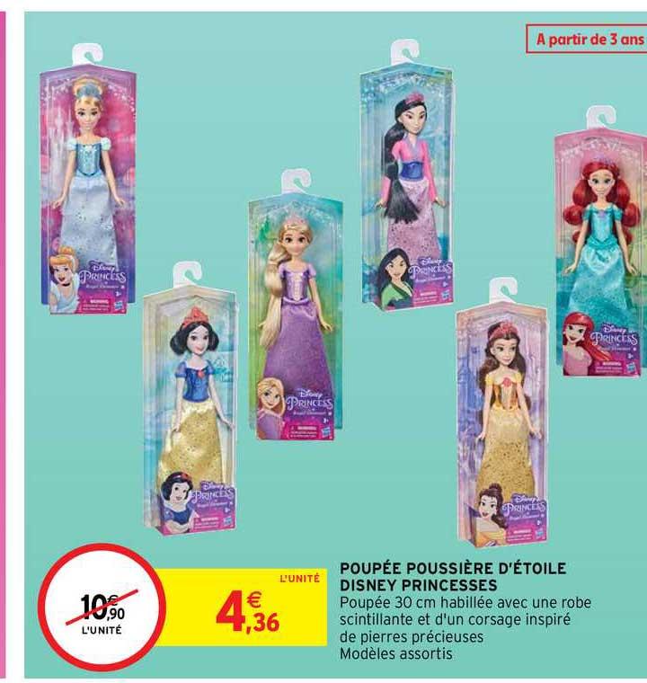 Intermarché Contact Poupée Poussière D'étoile Disney Princesses