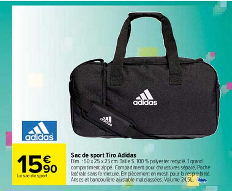Carrefour Sac De Sport Tiro Adidas