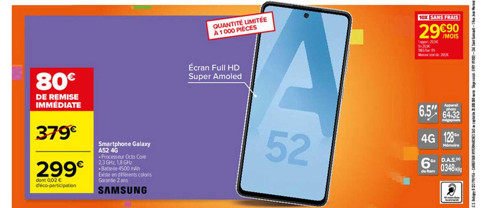 Carrefour Smartphone Galaxy A52 4g Samsung