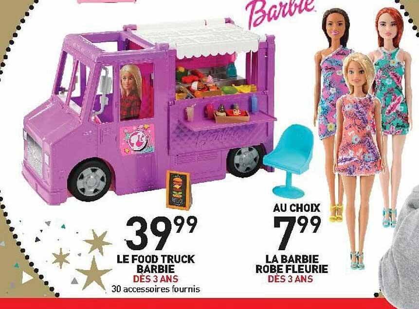 Stokomani Le Food Truck Barbie, La Barbie Robe Fleurie