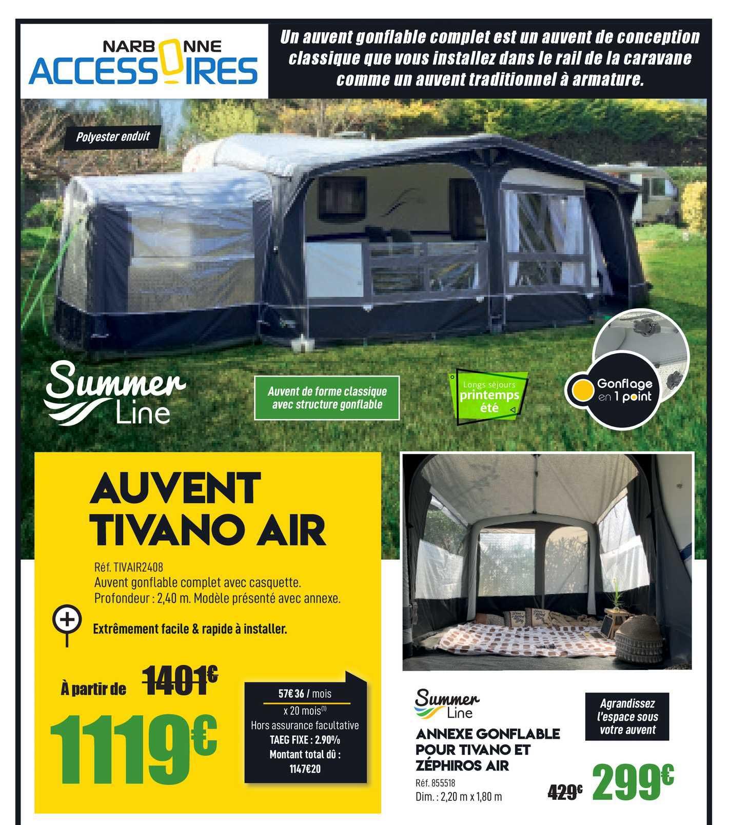 Narbonne Accessoires Auvent Tivano Air
