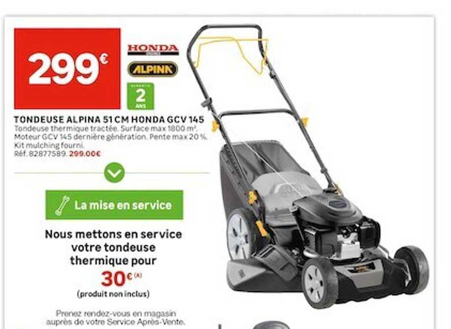 Leroy Merlin Tondeuse Alpina 51 Cm Honda Gcv 145