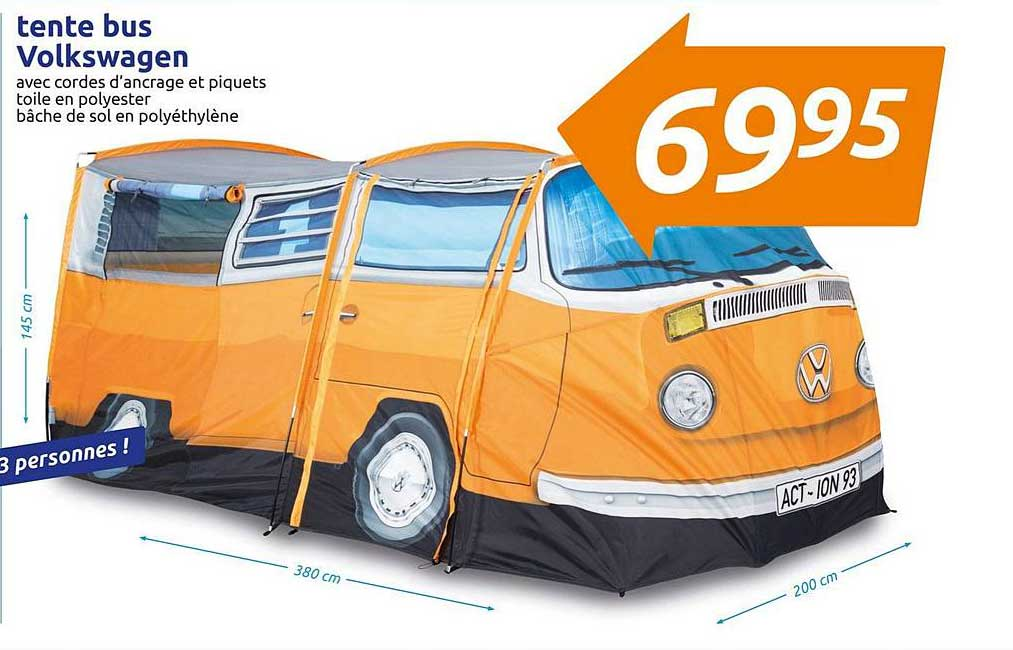 Action Tente Bus Volkswagen