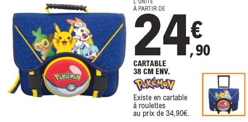 E.Leclerc Cartable 38 Cm Env. Pokémon
